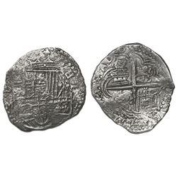 Potosi, Bolivia, cob 8 reales, 16(17)M, Grade-2 quality but Grade 3 on certificate.
