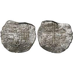 Potosi, Bolivia, cob 8 reales, (16)18T, Grade 3.