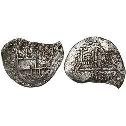 Potosi, Bolivia, cob 8 reales, 1619T, Grade 3.