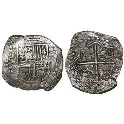 Potosi, Bolivia, cob 8 reales, (162)0T, Grade 2.
