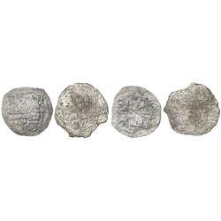 Lot of two Potosi, Bolivia, cob 8 reales, Philip III, assayers not visible, Grade 4.