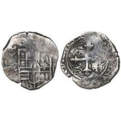 Mexico City, Mexico, cob 2 reales, (162)5/4(D), rare.