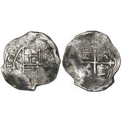 Mexico City, Mexico, cob 8 reales, 1617F, rare.