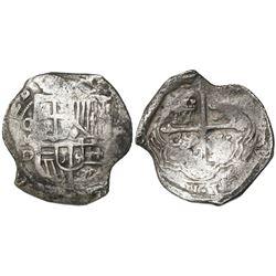 Mexico City, Mexico, cob 8 reales, (16)28/7D, rare.