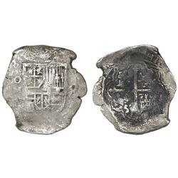 Mexico City, Mexico, cob 8 reales, (16)28/7(D), rare.