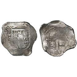 Mexico City, Mexico, cob 8 reales, 1639/8P.