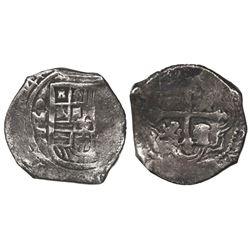 Mexico City, Mexico, cob 4 reales, 1641P, rare.