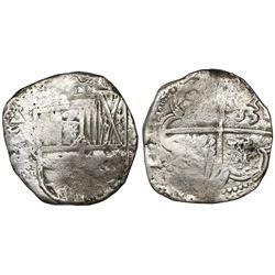 Potosi, Bolivia, cob 8 reales, (1)64(?)TR.