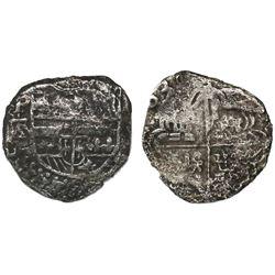 Potosi, Bolivia, cob 2 reales, (1)638TR, rare.