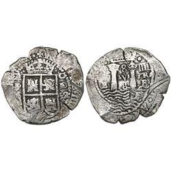 Potosi, Bolivia, cob 8 reales, (16)52E transitional Type IV/A.