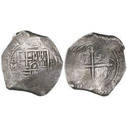 Mexico City, Mexico, cob 8 reales, 1653/2P.