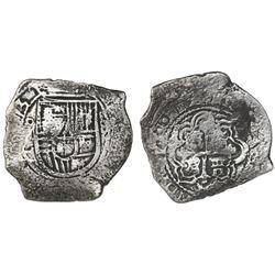 Mexico City, Mexico, cob 8 reales, (16)73(G), very rare.