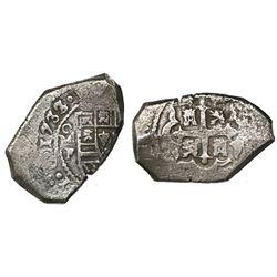 Mexico City, Mexico, cob 8 reales, 1733/2F.