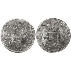 "Deventer, United Netherlands, ""rider"" ducatoon (40 stuivers), 1664."