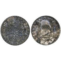 Mexico City, Mexico, pillar 8 reales, Philip V, 1742MF.