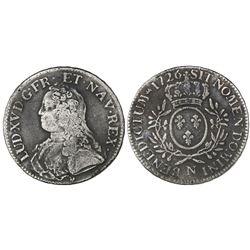 France (Montpelier mint), ecu, Louis XV, 1726-N.