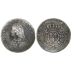 France (Dijon mint), ecu, Louis XV, 1726-P.