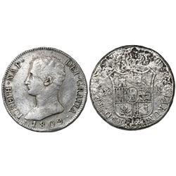 Madrid, Spain, 20 reales de vellon, Joseph Napoleon, 1809AI.