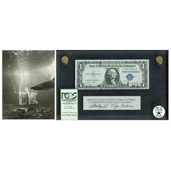 USA, $1 silver certificate, series 1935D, certified PCGS Grade A, with press photo of recovered safe