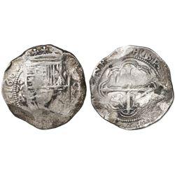 Mexico City, Mexico, cob 8 reales, 1609/8A/F, rare.