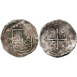 Mexico City, Mexico, cob 8 reales, (1)609A/F, rare.