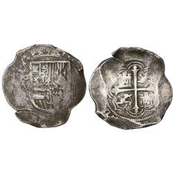 Mexico City, Mexico, cob 8 reales, 1611/0F, rare.