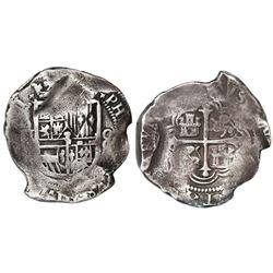 Mexico City, Mexico, cob 8 reales, (161)1(F).