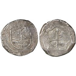 Mexico City, Mexico, cob 8 reales, 1612F.