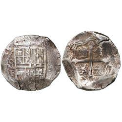 Mexico City, Mexico, cob 8 reales, (1)613F, rare.
