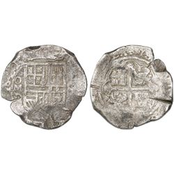Mexico City, Mexico, cob 8 reales, 1621D.