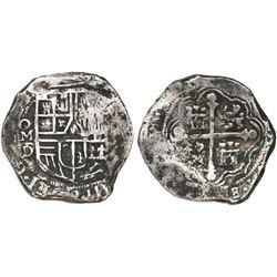 Mexico City, Mexico, cob 8 reales, 1623/2D, rare.
