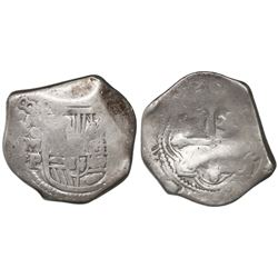 Mexico City, Mexico, cob 8 reales, (16)38P, very rare.