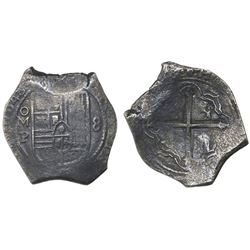 Mexico City, Mexico, cob 8 reales, 1648P.