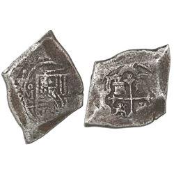 Mexico City, Mexico, cob 8 reales, 1694L, very rare.