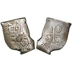 Mexico City, Mexico, cob 8 reales, (171)0(J), rare.