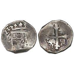 Mexico City, Mexico, cob 4 reales, (1)621/0(D), rare.