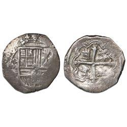 Mexico City, Mexico, cob 1 real, 1608F, rare.
