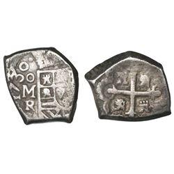 Mexico City, Mexico, cob 1 real, 1730R.