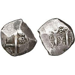 Lima, Peru, cob 8 reales, 1741V.
