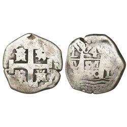 Lima, Peru, cob 4 reales, 1720M, rare.