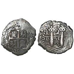 Lima, Peru, cob 2 reales, 1709M.