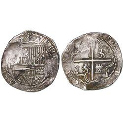 Potosi, Bolivia, cob 8 reales, Philip II, assayer B (1st period,  Lima style ), ex-Craig.