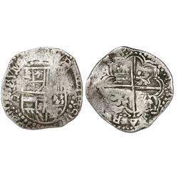 Potosi, Bolivia, cob 8 reales, Philip III, assayer C/Q, rare.