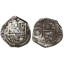 Potosi, Bolivia, cob 2 reales, Philip III, assayer M/Q, rare.