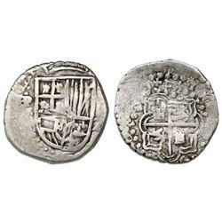 Potosi, Bolivia, cob 2 reales, (161)8T, rare.