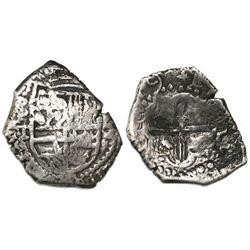 Potosi, Bolivia, cob 2 reales, (16)19T, rare.