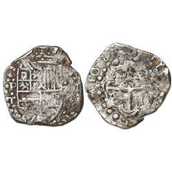 Potosi, Bolivia, cob 2 reales, 1627T, extremely rare.