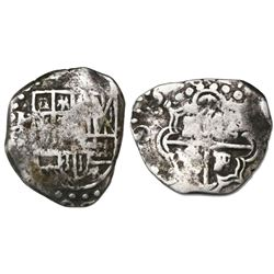 Potosi, Bolivia, cob 2 reales, 1628, assayer not visible (T or P), rare.