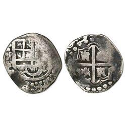 Potosi, Bolivia, cob 2 reales, 1629(T), rare.