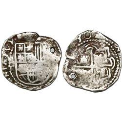 Potosi, Bolivia, cob 2 reales, (1)630T, rare.